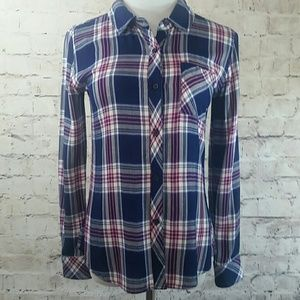 Rails Hunter plaid woman's top